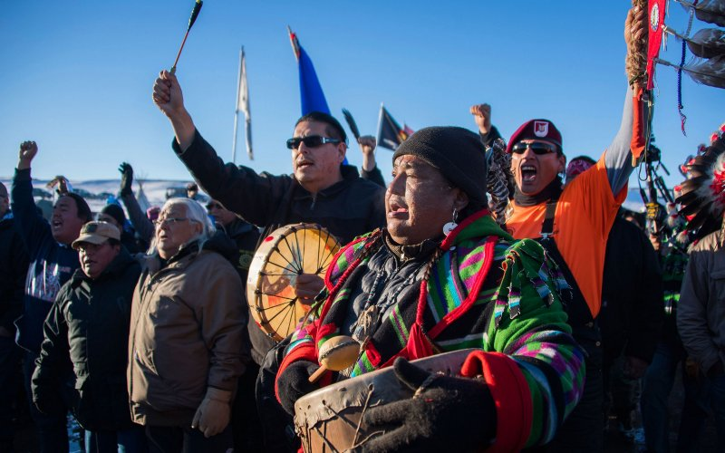 Veterans arrive at Standing Rock 12/4/16 to reinforce Water Protectors. Photo: The Daily Beast